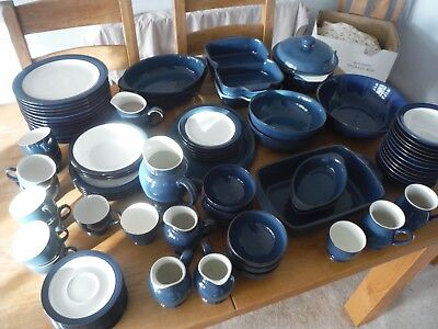 Denby Boston blue tableware ovenware Dinner service selling individually