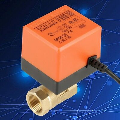 """AC 220V G3/4"""" DN20 2 Wires Control Brass Motorized Electrical Ball Valve"""