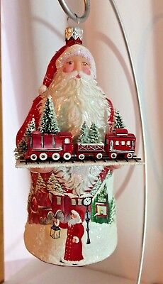 """Patricia Breen Winter Passage"""" Classic Red, 2018 w/ train sculpture & painting"""