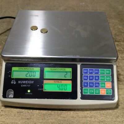 NUWEIGH CHR 717 Coin Counting Machine 5c 10c 20c 50c $1 $2