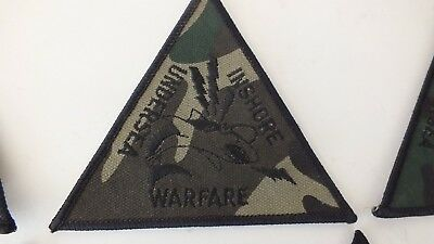"""US Navy Undersea Inshore Warfare Cloth Embroidered Patch Badge Sew Iron On 4.5""""w"""
