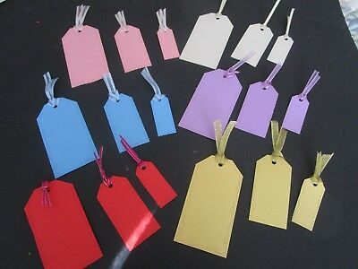 Die  Cut Tags  6 Sets  18 Pieces   Colourful Cardstock