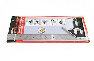 Nielson Combination Square & Level + Stainless Steel 300mm Rulers - Dual