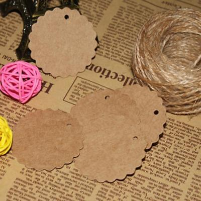 100Pcs Round Paper Labels 'Handmade For You' Craft Sticker