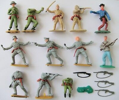 Timpo Copies Hong Kong Wwii German Us Japanese Cowboy Parts Plastic Toy Figure