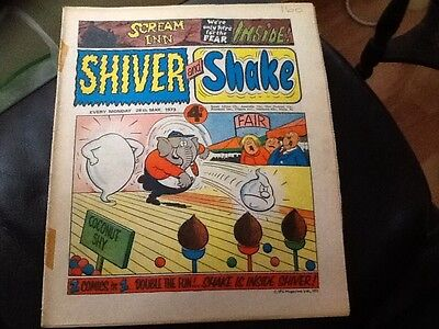 SHIVER AND SHAKE  Paper comic 1973 ISSUE NUMBER 12 . Still in good  condition