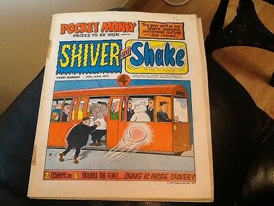 SHIVER AND SHAKE  Paper comic 1973 ISSUE NUMBER 17 . Still in great conditions