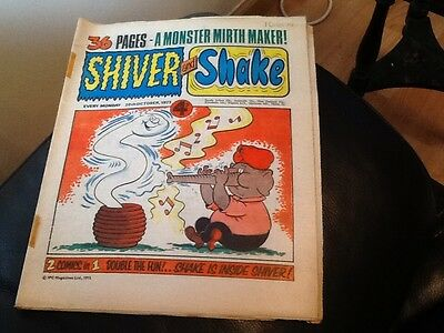SHIVER AND SHAKE  Paper comic 1973 ISSUE NUMBER 33 Still in great conditions