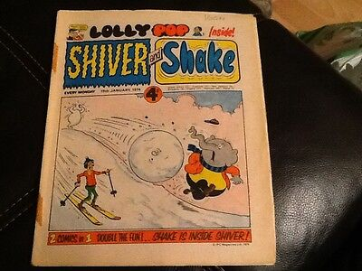 SHIVER AND SHAKE  Paper comic 1974 ISSUE NUMBER 46 Still in great condition