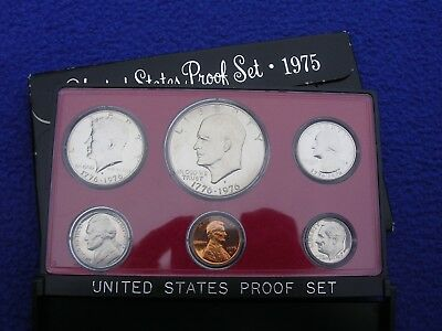 1975 US Mint Proof 6 Coin Set Uncirculated With Box Ike
