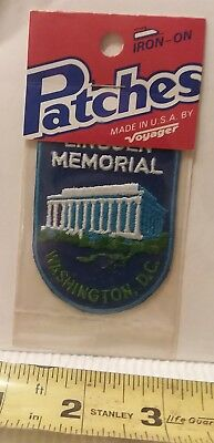 "Vintage unopened Lincoln Memorial Patch  Washington D.C. 2"" x 2.75"" size"
