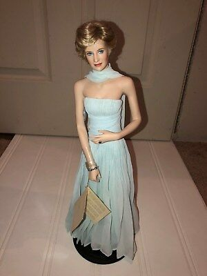 Princess Diana Doll With Stand Blue Gown