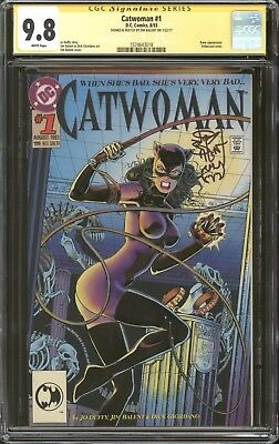 Catwoman #1 CGC 9.8 SS Signed & Sketch by Jim Balent DC Comics Batman Movie