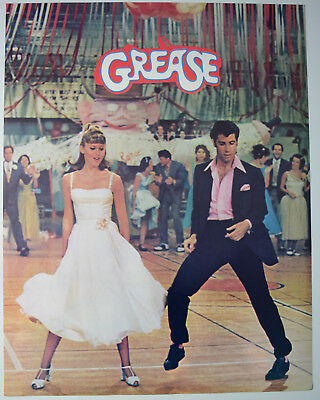 Vintage Grease Poster Nos Near Mint Olivia Newton John Travolta