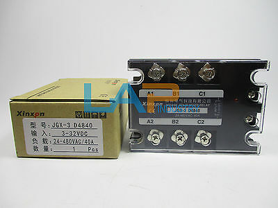 3Phase Three-phase JGX-3 D4840 Solid State Relay 40A SSR DC-AC 3-32VDC 24-480VAC