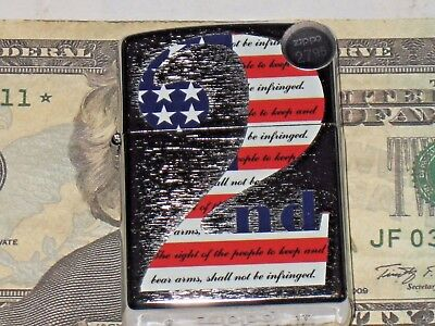 New Windproof ZIPPO USA Lighter 2nd Second Amendment Right to Bear Arms 101478