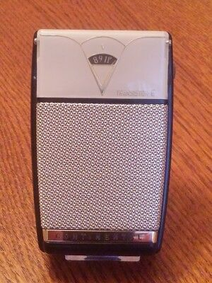 Continental Mod Tr-622 Working 6 Transistor Radio, W/ White Reverse Painted Face
