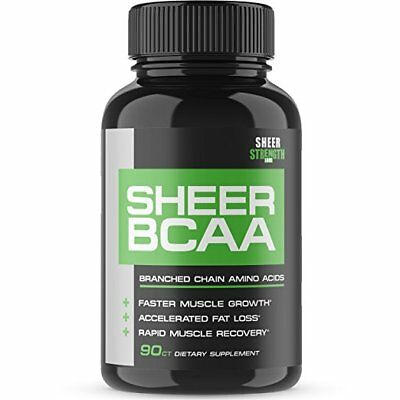 Sheer Strength Labs BCAA Capsules - Extra Strength 1,950mg Branched Chain Amino