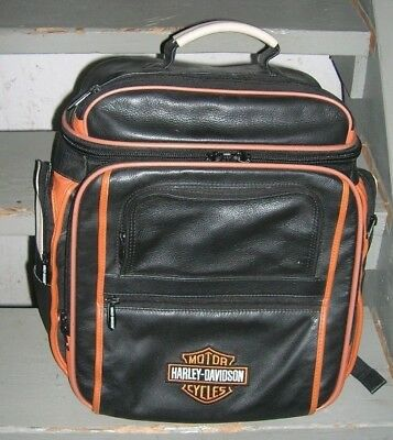 HARLEY DAVIDSON DELUXE LEATHER BAG (back pack) (new no tags)