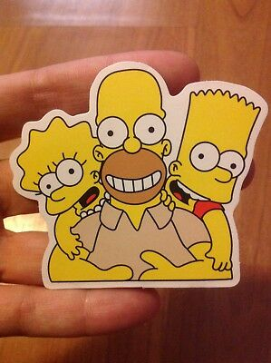 The Simpsons Sticker - Homer Bart and Lisa Simpson sticker - free shipping