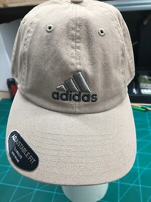 Brand New Adidas Khaki Adjustble Strapback Hat Cm Weekend Warrior Hat