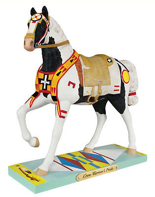 Trail of Painted Ponies Crow Warrior's Pride Horse Figurine Indian  Pony New