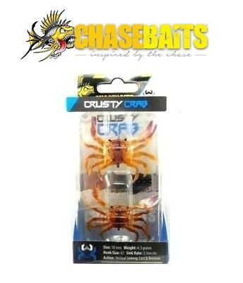 Chasebaits Crusty Crab Bonefish Surf Perch Saltwater Lure Select Size Color