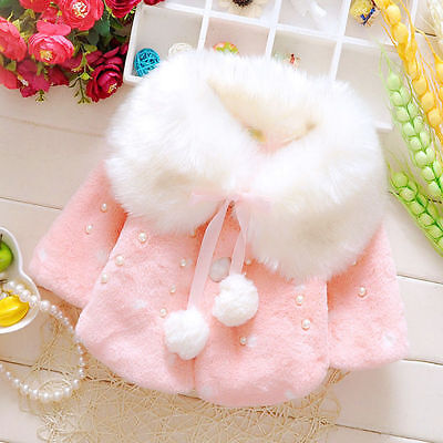 New Born Infant Baby Girls autum Outerwear Hooded cappa Coat Warm Winter Clothes