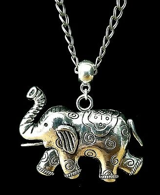 Delta Sigma Theta Silver Plated Elephant Double Link Silvertone Necklace Chain