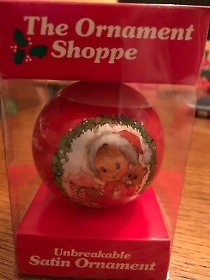 1981 Baby's First Christmas Satin Ornament Bulb Ball