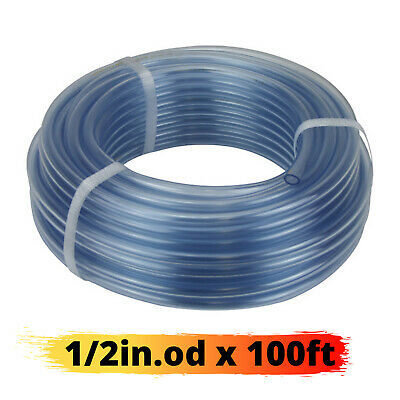 Vinyl Tubing 5/16in ID Water Dispense Tube 100ft FDA Approved Drain Hose Clear