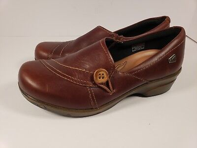 KEEN Brown Leather Suede Clogs Slip On Shoes Mules Women's Size 9 / 39.5