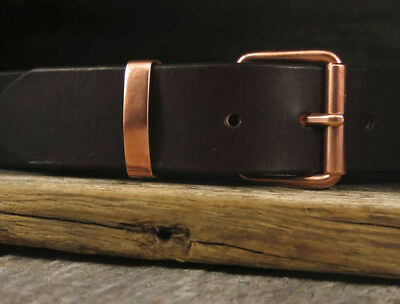 Copper Buckle SET | EXTRA STRONG Copper Belt Buckle and Copper Belt Keeper Loop