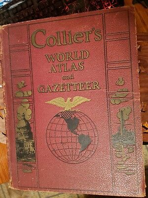 Collier's World Atlas and Gazetteer published 1937 Excellent Condition