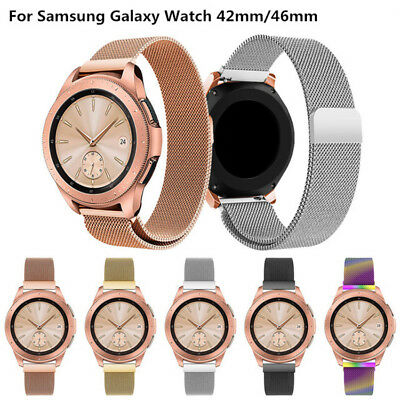 Milanese Stainless Steel Magnetic Strap Band For Samsung Galaxy Watch 42/46mm