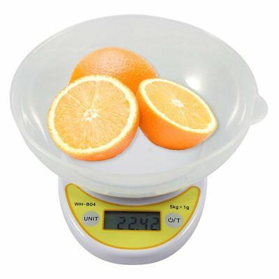 Digital Kitchen Scale Electronic Weight Diet Food 5KG 11LBS x 1g with Bowl LCD