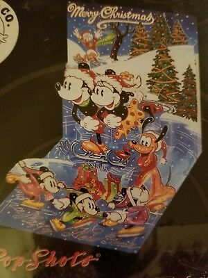 MICKEY & CO Pop Shots MICE ON ICE 3-D Greeting Card DPS-287