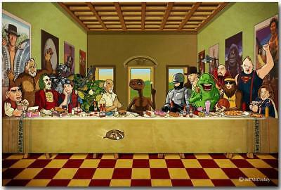 Beetlejuice The Last Supper Cartoon Funny Art Silk Poster 8x12 24x36 24x43