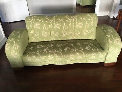 lounge Art Deco club reupholstered perfect condition. Regretful sale. Moving.
