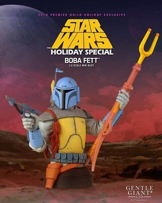 Gentle Giant Star Wars Holiday Special Boba Fett Mini Bust PGM 2018 Exclusive