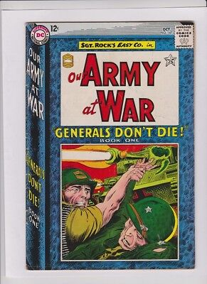 OUR ARMY AT WAR #147 Fine-, Sgt Rock, Joe Kubert cover and art, WW I story