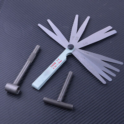 Motorcycle Engine Valve Screw Adjusting Spanner Tool + Feeler Gauge