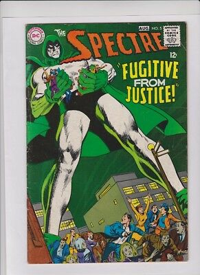 """THE SPECTRE #5 VG+, Neal Adams cover & art, """"Fugitive From Justice"""", DC 1968"""