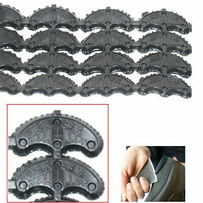 60 Pairs Rubber Sole Heel Savers Toe Plates Taps Glue on Shoe Repair Pad 3mm