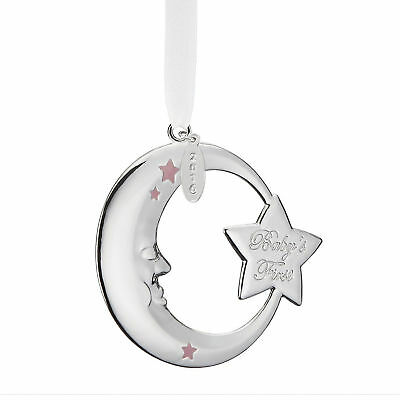 Reed & Barton 2016 Baby's First Christmas PINK MOON Ornament - New in Box