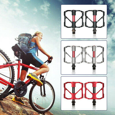 2Pcs Lixada Aluminum Alloy Mountain Bike Sealed Bearing Platform Pedals HOT Y6I1