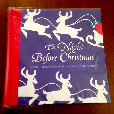 Robert Sabuda THE NIGHT BEFORE CHRISTMAS 1st/1st 2002 NOS NEW OLD STOCK UNOPENED