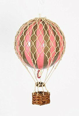 """Authentic Models Holiday Hot Air Balloon Decoration 3.25"""", Gold and Pink New"""