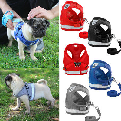 Mesh Puppy Vest Walk Leash Pet Traction Rope Dog Harness Collar Chest Strap ~