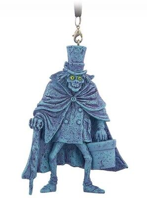 """Disney 4"""" Figural Ornament Hatbox Ghost Haunted Mansion Parks Authentic Nwt New"""